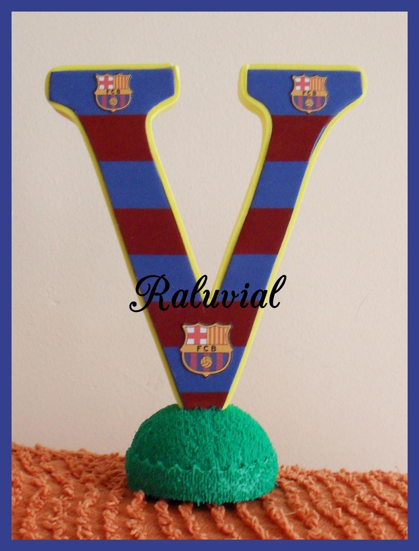 Letra V decorada Barça